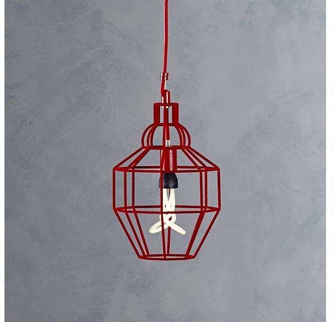 Crate & Barrel Riviera Small Red Pendant Lamp