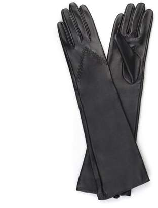 Brinley Co. Womens Genuine Leather Fashion Long Gloves