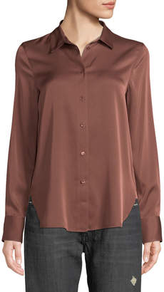 Vince Slim Fit Button-Front Shirt