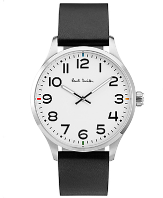 Men's Tempo Leather Strap Watch