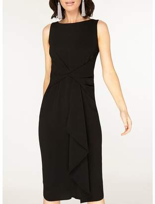 Dorothy Perkins Luxe Black Crepe Manipulated Wrap Dress