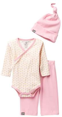 Petunia Pickle Bottom Bodysuit, Pants, & Hat Social Set (Baby Girls)