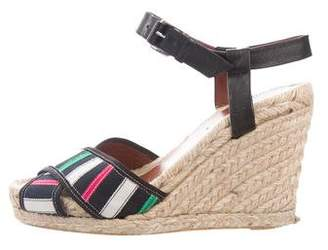 Marc by Marc Jacobs Striped Espadrille Wedges