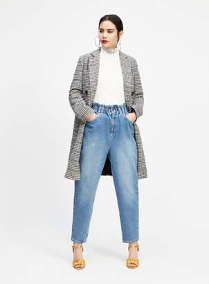 Miss Selfridge MOM High Waist Blue Jeans