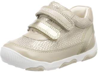 Geox Girl's B New BALU' Girl Sneakers, Beige/Gold