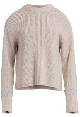 Stella McCartney Cold Shoulder Ribbed Sweater