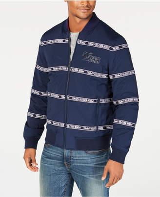 Tommy Hilfiger Mens Zip-Front Logo Jacket