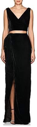 Azeeza Women's Velvet Wrap Gown