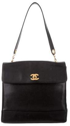 Chanel Caviar Top Handle Flap Bag