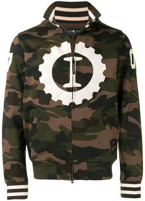 Hydrogen camouflage zipped sweatshirt