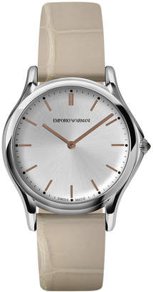 Emporio Armani Unisex Swiss Nude Leather Strap Watch 36mm ARS2010