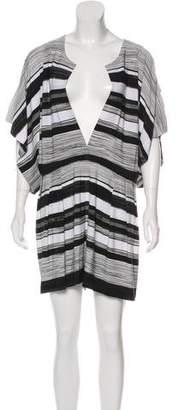 Norma Kamali Striped Short Sleeve Romper w/ Tags
