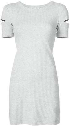 Helmut Lang cut out ribbed dress