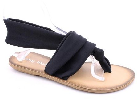 Chinese Laundry Beka Open Toe Thongs Sandals Shoes Black Womens