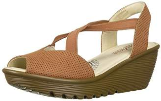 Skechers Women's Parallel-Piazza-Peep Toe Gored Slingback Wedge Sandal