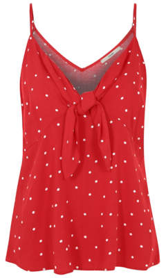 George Polka Dot Bow Front Camisole