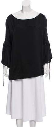Givenchy Silk Bell Sleeve Blouse