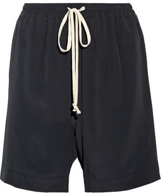 Rick Owens - Crepe De Chine Shorts - Black $435 thestylecure.com