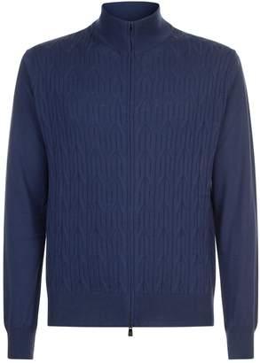 Corneliani Cable Knit Wool Cardigan