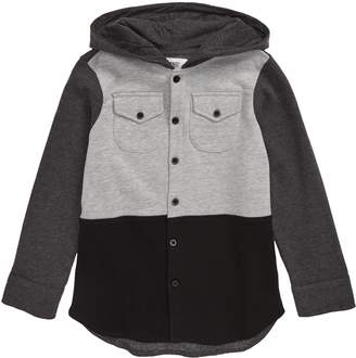 Wesc Colorblock Hooded Button-Up Shirt