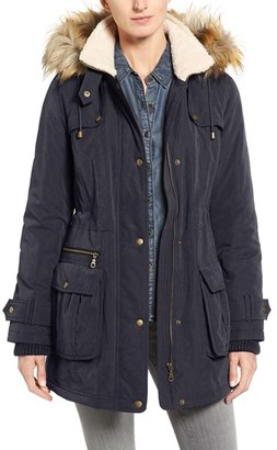 Women's Halogen Hooded Anorak With Faux Fur Trim $229 thestylecure.com