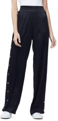 Good American Satin Track Pants