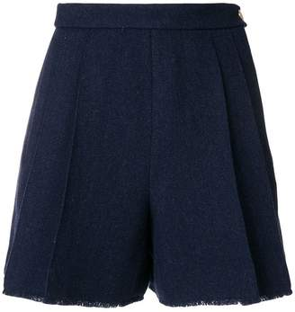 Thom Browne double-pleat frayed shorts