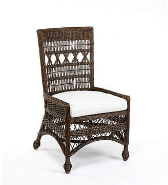 One Kings Lane Bar Harbor Wicker Side Chair - Dark Walnut