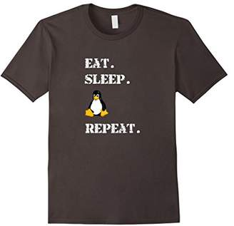 Eat Sleep Tux Repeat Linux Official Mascot Logo T-Shirt