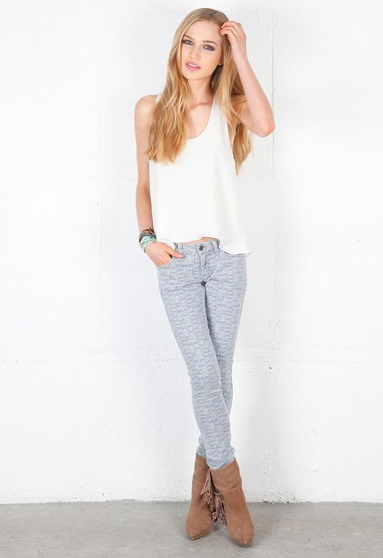 Siwy Denim Hannah Slim Crop Jean in Runaway