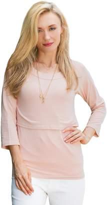 Sweet Mommy Maternity and Nursing Three-Quarter Sleeve Tee Shirt PKXL