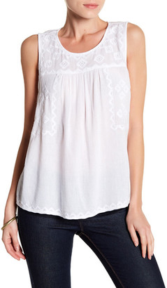 SUSINA Embroidered Shell Tank $24.97 thestylecure.com