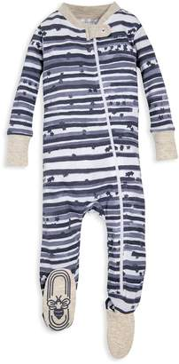 1050a3da22 Burt s Bees Starry Stripes Organic Baby Zip Up Footed Pajamas