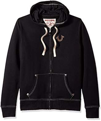True Religion Men's Buddha Logo Zip Hoodie,XXXL