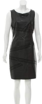 Bailey 44 Faux Leather Lasercut Dress