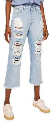MANGO Bella Relaxed-Fit Cropped Jeans