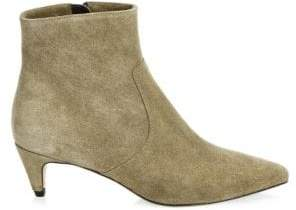 Isabel Marant Derst Suede Point-Toe Ankle Boots