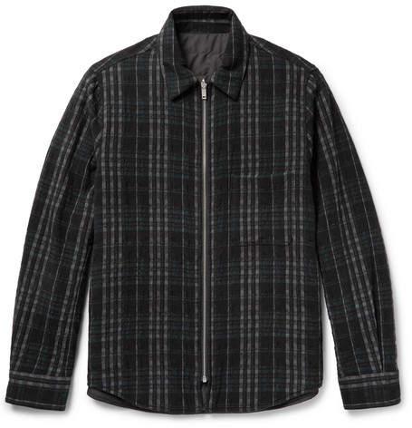 Theory Slim-Fit Reversible Wool-Blend Shirt Jacket