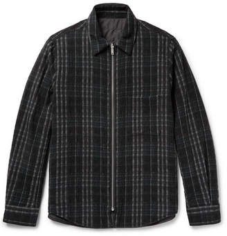 Theory Slim-Fit Reversible Wool-Blend Shirt Jacket