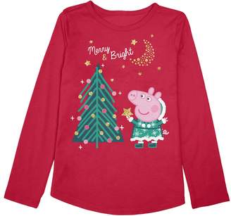 Peppa Pig Toddler Girl Jumping Beans Holiday Graphic Tee