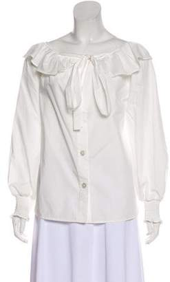 Marc Jacobs Long Sleeve Ruffle Top