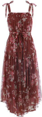 Zimmermann Unbridled Tie Waist Slip Dress
