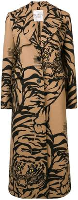 Valentino tiger-print coat