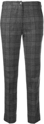 Gentry Portofino slim fit plaid trousers