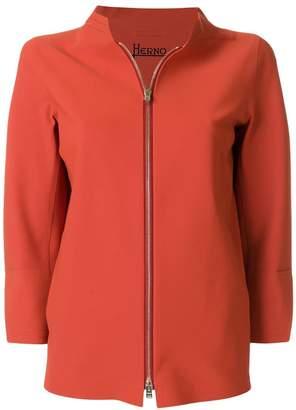 Herno cropped sleeve boxy jacket