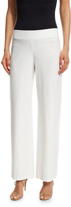 Eileen Fisher Wide-Leg Stretch-Crepe Pants $168 thestylecure.com