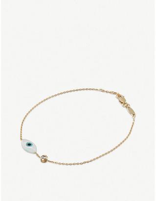 Redline The Alkemistry Evil Eye 18ct yellow-gold chain bracelet