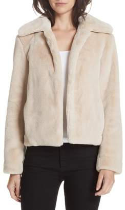 Theory Faux Rabbit Fur Jacket