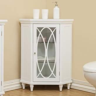 "Elegant Home Fashions Bourbon Corner Floor 24.75"" W x 32"" H Cabinet"