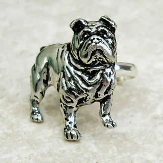 Wild Life Designs Bulldog Ring Antiqued Pewter
